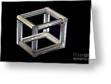 The Necker Cube Greeting Card
