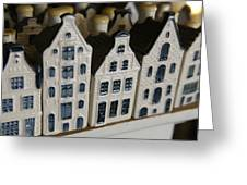 The Netherlands, Amsterdam, Model Houses Greeting Card