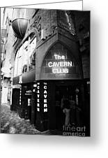 The New Cavern Club In Mathew Street In Liverpool City Centre Birthplace Of The Beatles Greeting Card