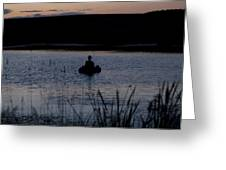 The Night Fisherman Floats Greeting Card
