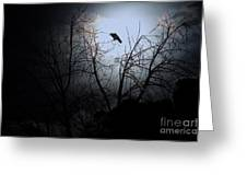 The Night The Raven Appeared In My Dream . 7d12631 Greeting Card