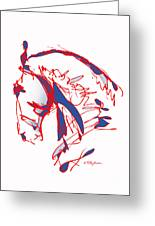 The Noble Nose - Red White Blue Greeting Card