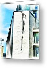 The Noon Sundial At The London Stock Exchange Greeting Card