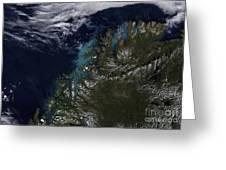 The Norwegian Sea Greeting Card by Stocktrek Images