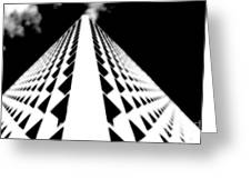 The Office Building Bw Greeting Card