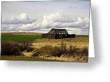 The Old Barn In The Meadow Greeting Card