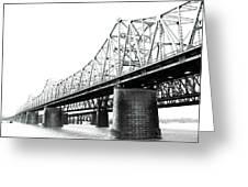 The Old Bridges At Memphis Greeting Card