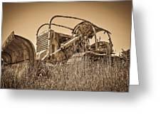 The Old Bulldozer Greeting Card