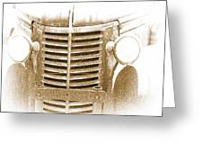 The Old Chevrolet Greeting Card