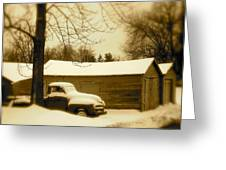 The Old Chevy Greeting Card