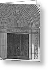 The Old Church Doors Greeting Card