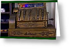 The Old Copper Cash Machine Greeting Card