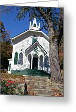 The Old Country Church On The Hill Greeting Card