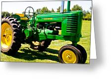 The Old Deere Greeting Card