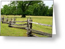 The Old Fence Greeting Card by Valia Bradshaw