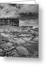 The Old Fisherman's Hut Bw Greeting Card by Heiko Koehrer-Wagner