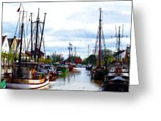 The Old Harbor Greeting Card