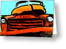 The Old Jalopy . 7d8396 . Color Sketch Style Greeting Card by Wingsdomain Art and Photography