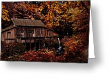 The Old Mill Stream Greeting Card