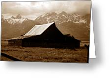 The Old Moulton Barn Greeting Card