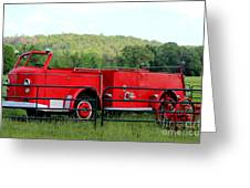 The Old Red Fire Engine Greeting Card