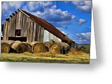 The Old Roadside Barn Greeting Card