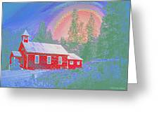 The Old Schoolhouse Library Greeting Card