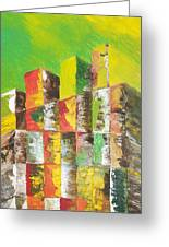 The Old Stack Of Wood Greeting Card by Roy Penny