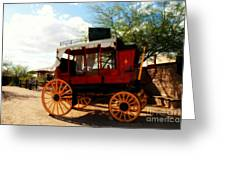 The Old Stage Coach Greeting Card by Susanne Van Hulst