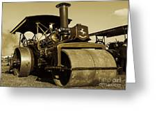 The Old Steam Roller Greeting Card