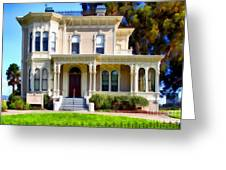The Old Victorian Camron-stanford House In Oakland California . 7d13440 Greeting Card by Wingsdomain Art and Photography