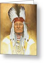 The Old War Chief Greeting Card