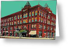 The Oliver Theatre In Lincoln Ne In 1910 Greeting Card