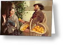 The Orange Seller  Greeting Card