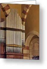 the Organ Augusta Victoria Jerusalem Greeting Card