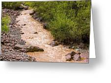 The Ourika River In Spate Greeting Card
