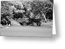 The Overhang In Black And White Greeting Card