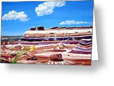 The Painted Desert And The Petrified Foreste Greeting Card