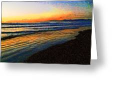 The Painted Waves Of Dawn  Greeting Card