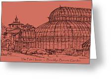 The Palm House In A Salmon Pink  Greeting Card