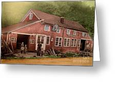The Palmer Bates' Blacksmith Shop In Potter Hollow N Y Around 1910 Greeting Card