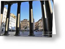 The Pantheon . Piazza Della Rotonda. Rome Greeting Card