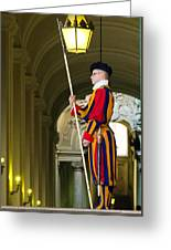 The Papal Swiss Guard Greeting Card