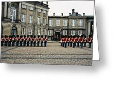 The Parading Of The Guards Greeting Card