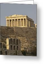 The Parthenon On The Acropolis Greeting Card by Richard Nowitz