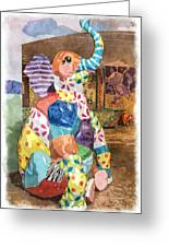 The Patchwork Elephant Art Greeting Card