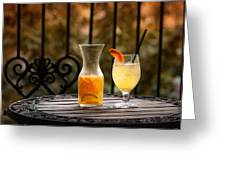 The Patio Greeting Card by Brenda Bryant