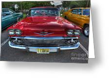 The Perfect Red Bel Air Greeting Card