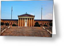 The Philadelphia Museum Of Art Front View Greeting Card