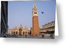 The Piazza San Marco Is The Focal Point Greeting Card